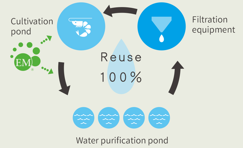 Closed water recycling system graph