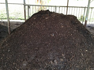 Compost made with swine manure and EM