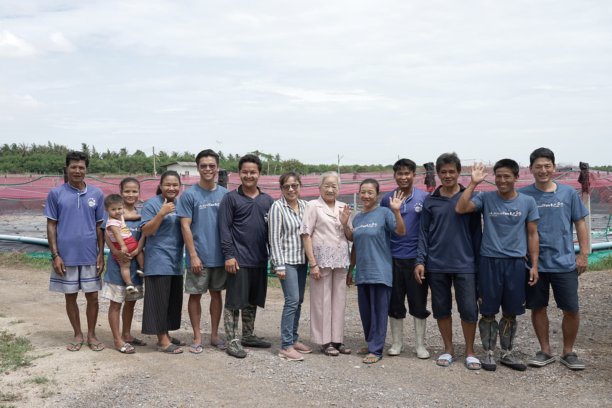 Ms. Nittaya and her farm staff