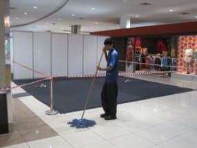 Clean up at Sutera Mall is also applying EM
