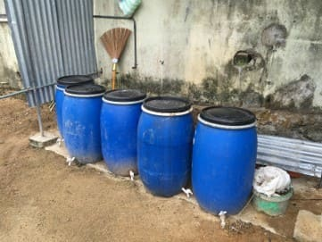 EM added to the tanks to treat secondary waste water