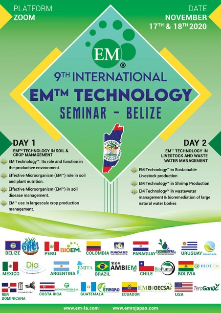 9th International EM Technology ZOOM Seminar in Belize