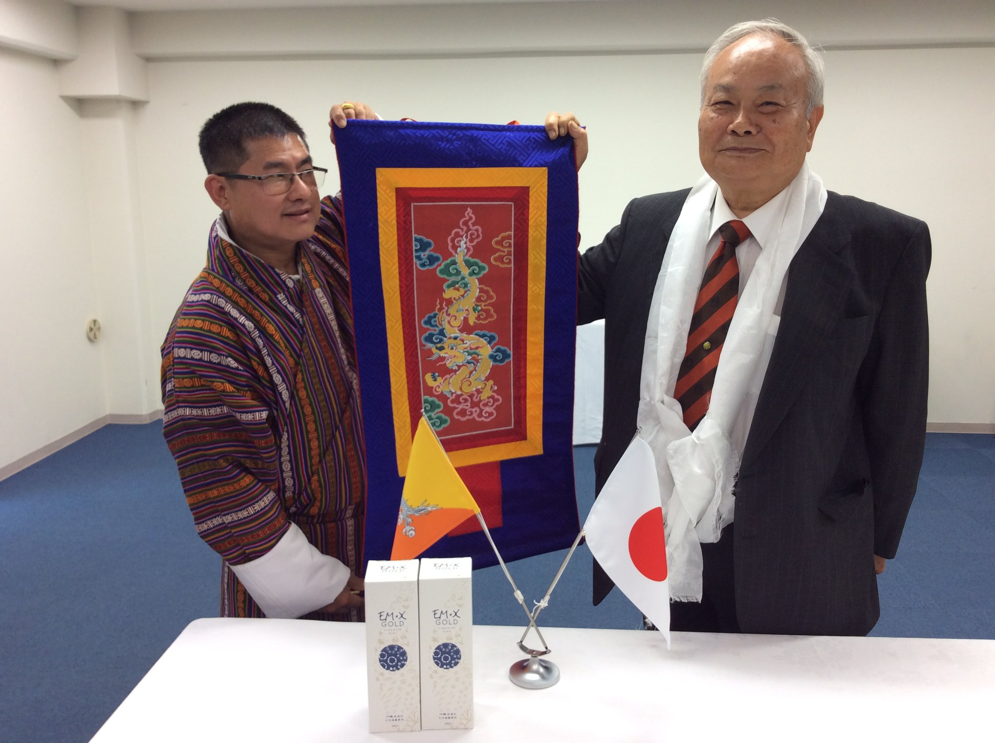 Partner from Bhutan visits Prof. Higa
