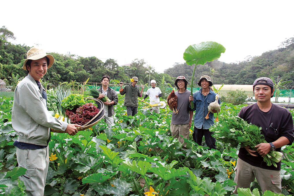 Lavoratori felici a Sunshine Farm
